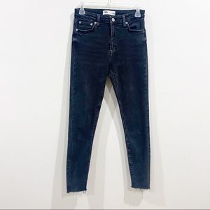 Zara Washed Out Black High Rise Skinny Jeans